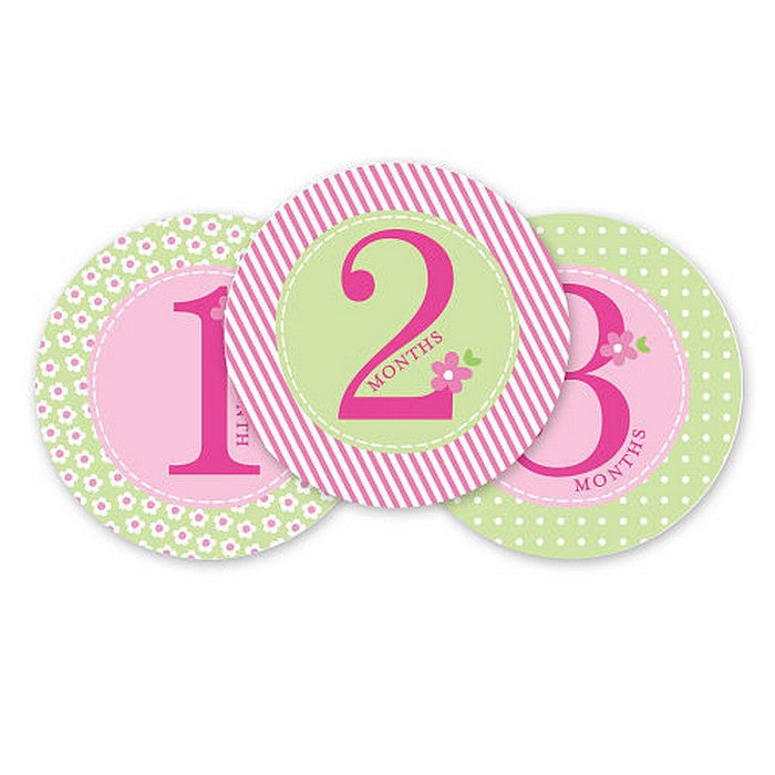 Pearhead First year Belly Stickers Pink