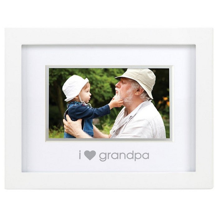 "Pearhead White ""I Love Grandpa"" Sentiment Frame"