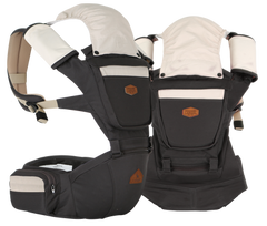 i-angel Baby Carriers Hipseat Rainbow 2 Charcoal Grey