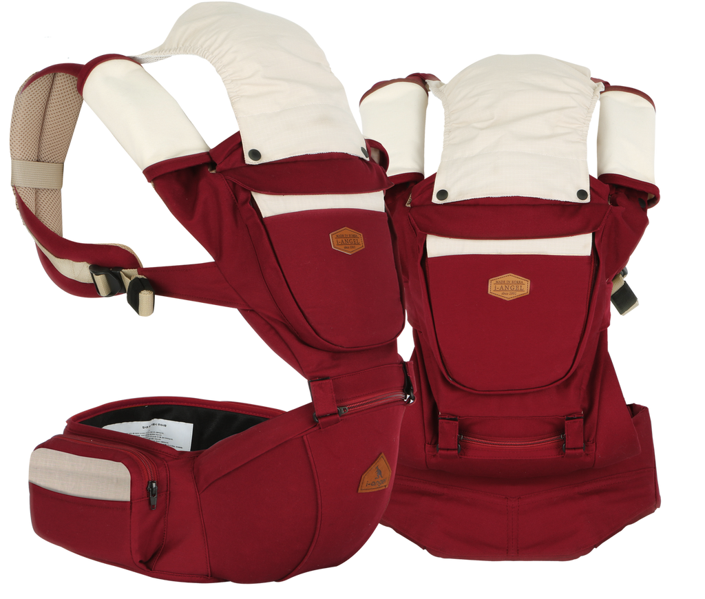 i-angel Baby Carriers Hipseat Rainbow 2 Dark Wine