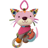 Skip Hop Bandana Buddies Stroller Toy - Kitty