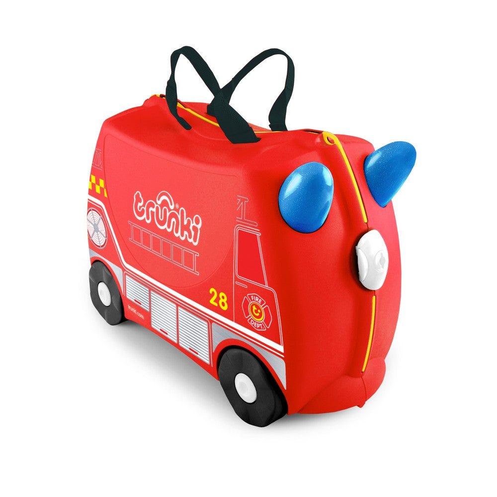 Trunki Ride on Suitcase Frank fire engine NEW