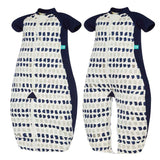 ergoPouch SLEEP SUITS 1 TOG Sleep Suit Bag Navy Paint - DarlingBaby