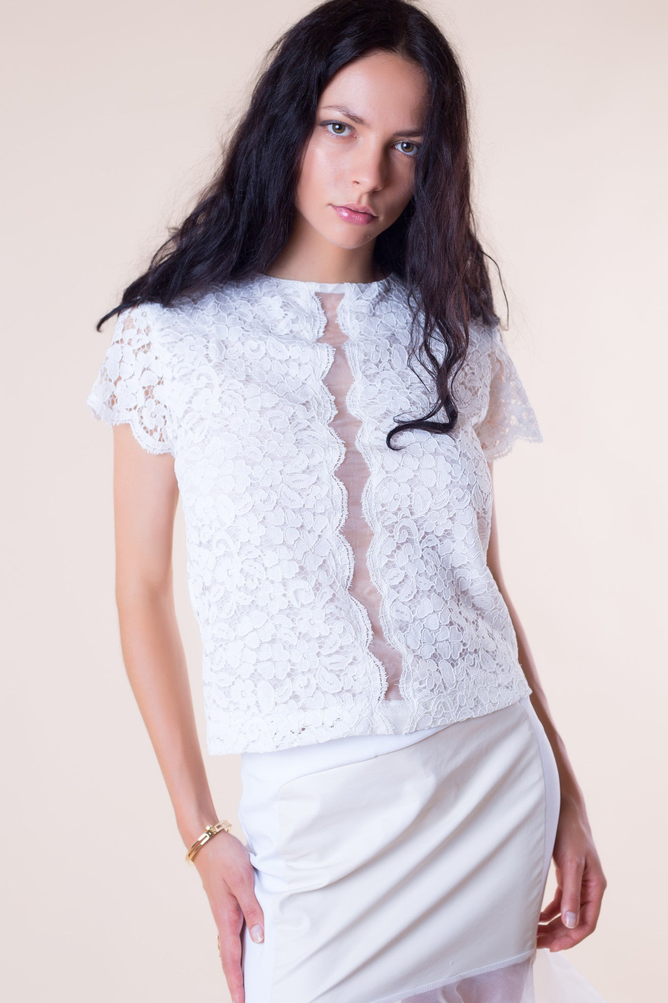 'Pearl' Lace Top