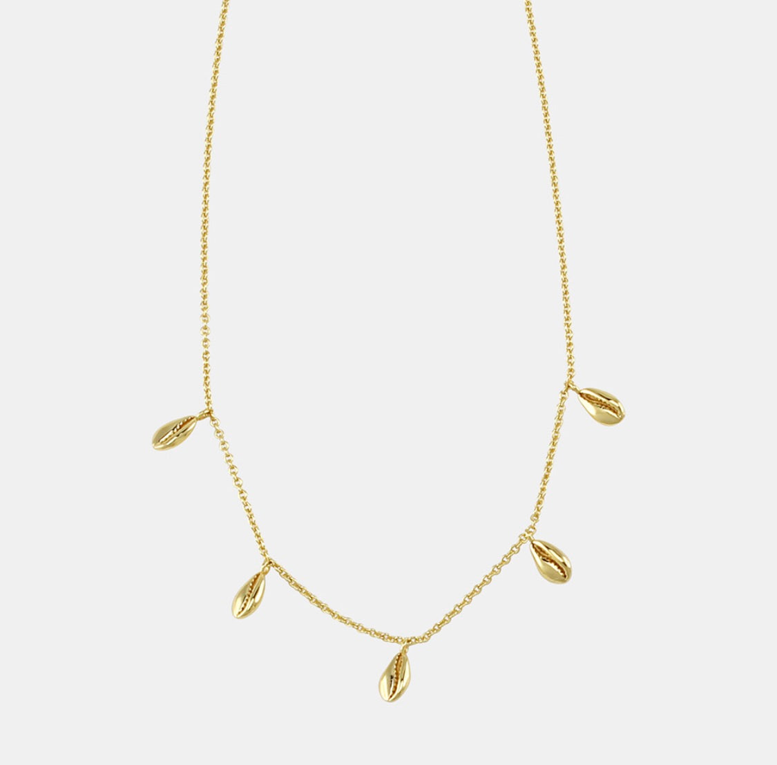 Jolie and Deen Mini Cowrie Necklace Sterling Silver / Gold