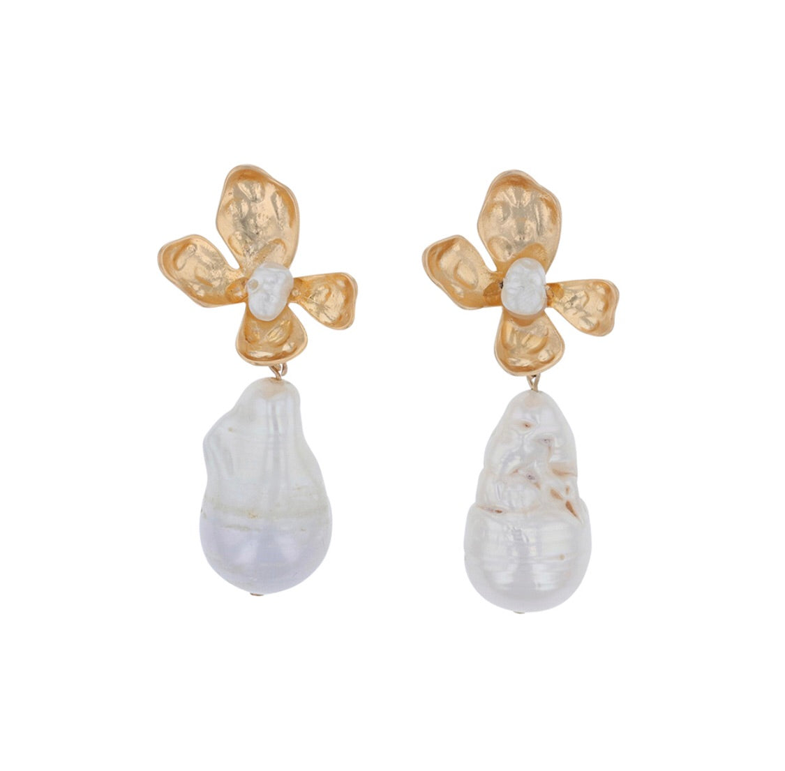 Jolie and Deen Flower Pearl Earrings
