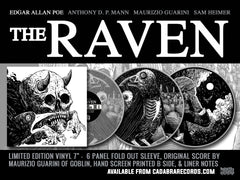 "THE RAVEN VARIANT - Edgar Allan Poe, The Raven 7"" EP, Read by Anthony D. P. Mann, Score by Maurizio Guarini"