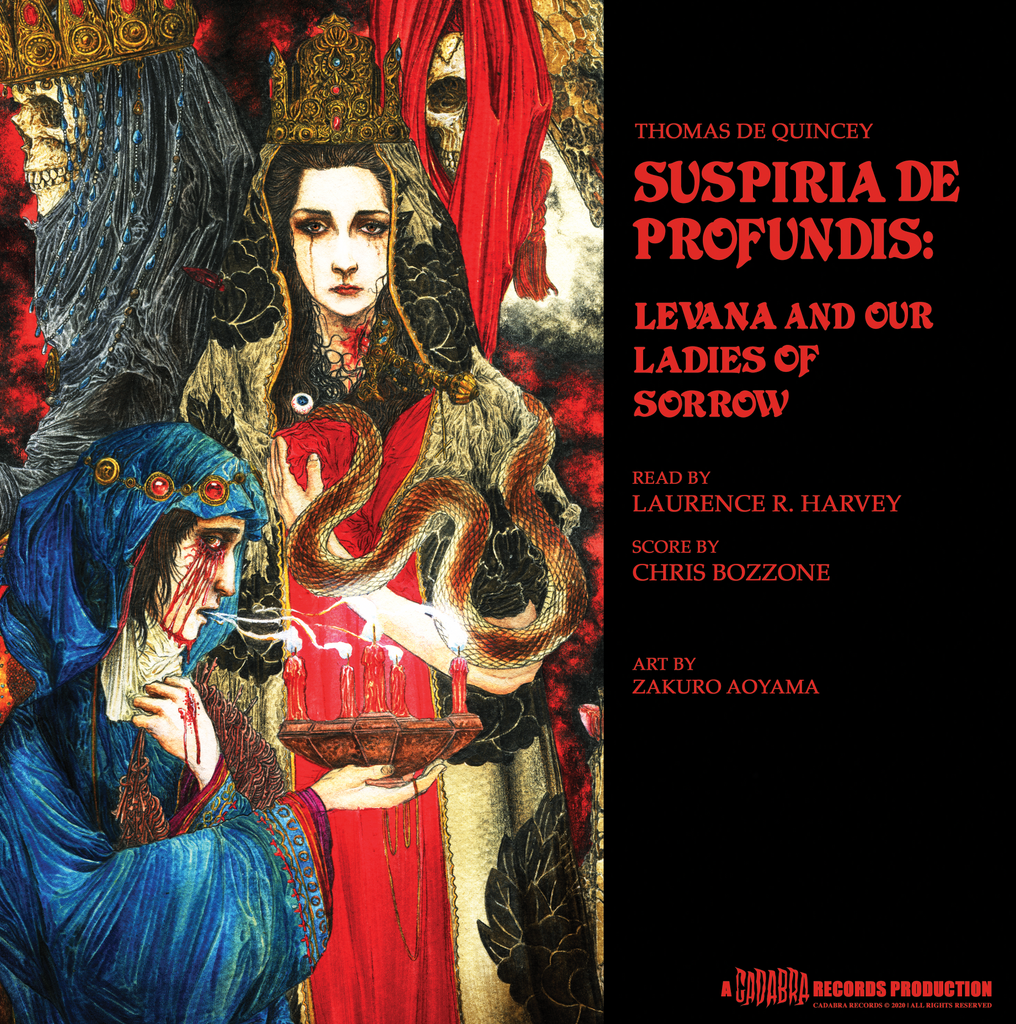 "Thomas De Quincey, Suspiria De Profundis: Levana and Our Ladies of Sorrow 12"" READ BY LAURENCE R. HARVEY, SCORE BY CHRIS BOZZONE - Mater Suspiriorum, Our Lady of Sighs variant"