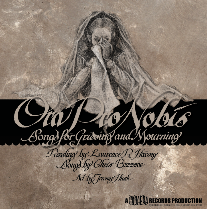 "ORA PRO NOBIS 7"" READ BY LAURENCE R. HARVEY, MUSIC BY CHRIS BOZZONE - ""Hollowed Ground"" black vinyl"