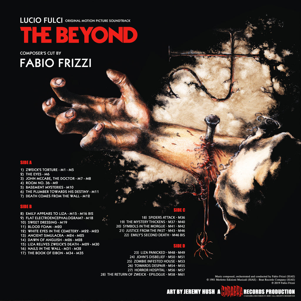 Lucio Fulci - The Beyond Composer's Cut by Fabio Frizzi - White with black swirl