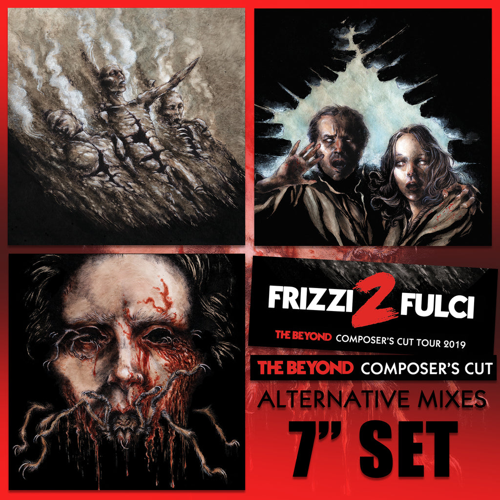 "Lucio Fulci - The Beyond Composer's Cut Alternative Mixes 3x 7"" Set by Fabio Frizzi"