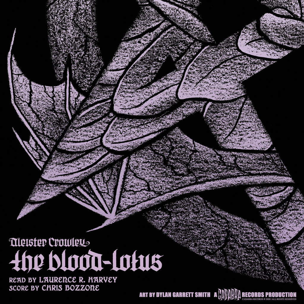 Aleister Crowley, The Blood-Lotus LP - Read by Laurence R. Harvey, score by Chris Bozzone - Purple with black swirl