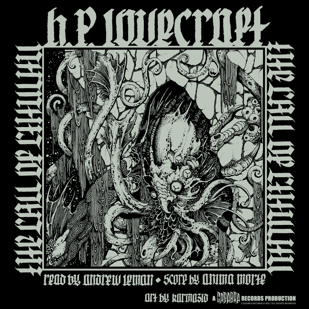H. P. Lovecraft's, The Call of Cthulhu 2x LP - Read by Andrew Leman, Score by Anima Morte - Audiophile 180 gram black