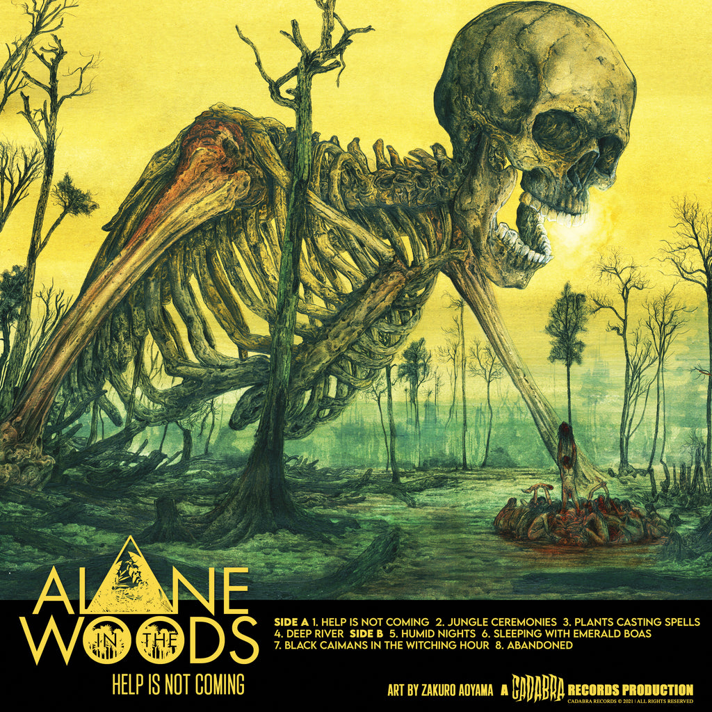 ALONE IN THE WOODS, HELP IS NOT COMING LP YELLOW VINYL