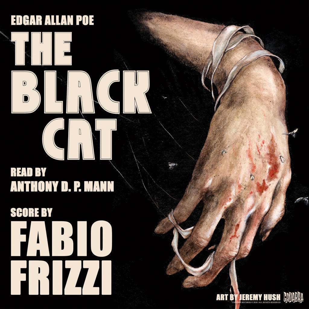 Edgar Allan Poe, The Black Cat - Read by Anthony D. P. Mann, Score by Fabio Frizzi - Deluxe edition Red & Black swirl