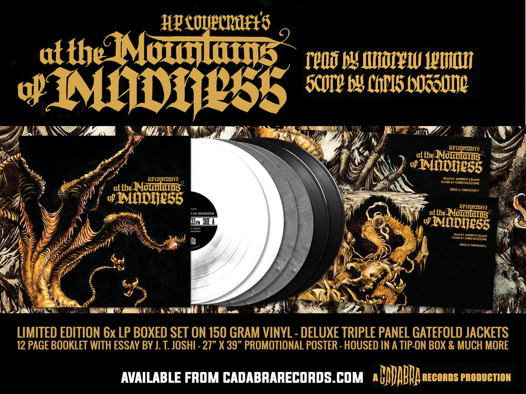 H. P. LOVECRAFT'S AT THE MOUNTAINS OF MADNESS 6x LP BOXED SET - READ BY ANDREW LEMAN, SCORE BY CHRIS BOZZONE - THE FINAL HORROR VARIANT SET - PAYMENT PLAN