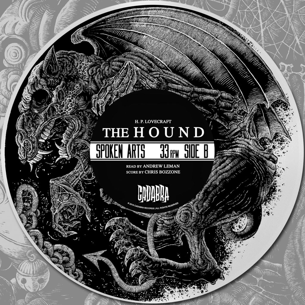 H. P. Lovecraft's, The Hound LP - Read by Andrew Leman, score by Chris Bozzone - TRANSPARENT YELLOW VINYL