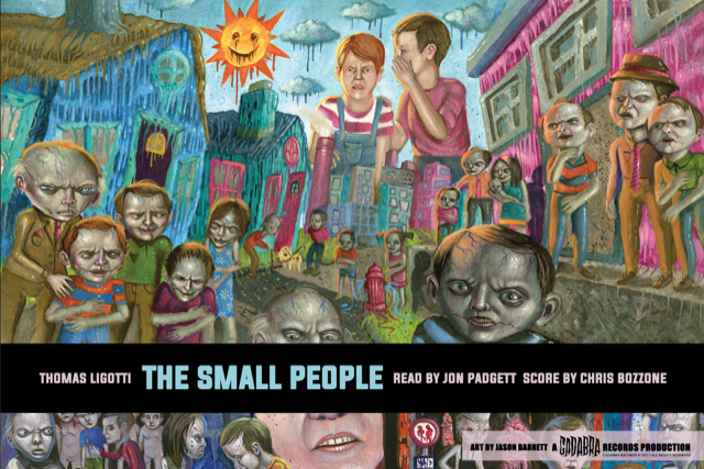 Thomas Ligotti, The Small People 2x LP set - Read by Jon Padgett, score by Chris Bozzone SPLATTER EDITION WITH STAND