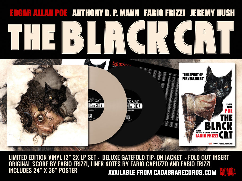 Edgar Allan Poe, The Black Cat - Read by Anthony D. P. Mann, Score by Fabio Frizzi - Deluxe edition Beige Marble