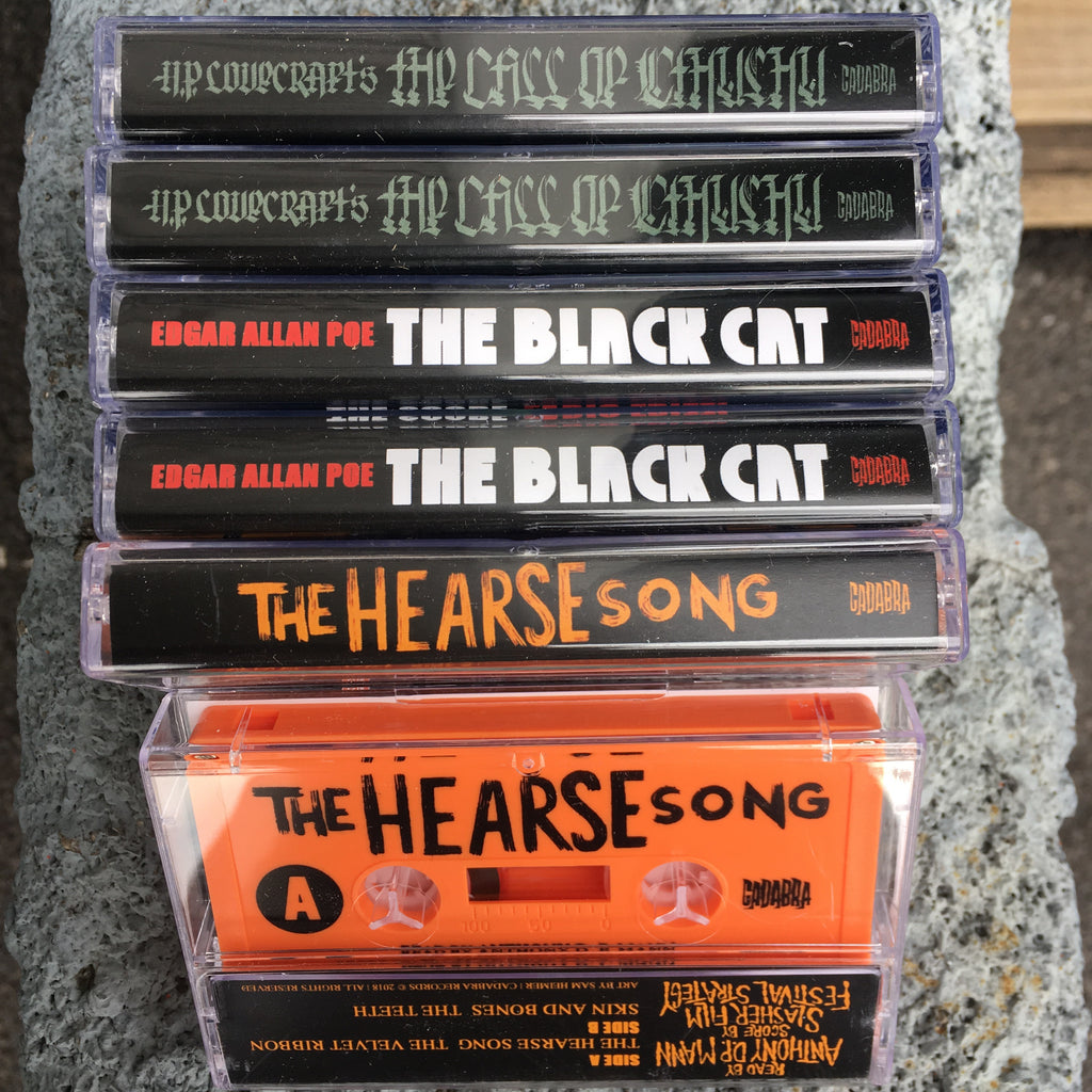 Cassette tape bundle - The Call of Cthulhu, The Black Cat & The Hearse Song