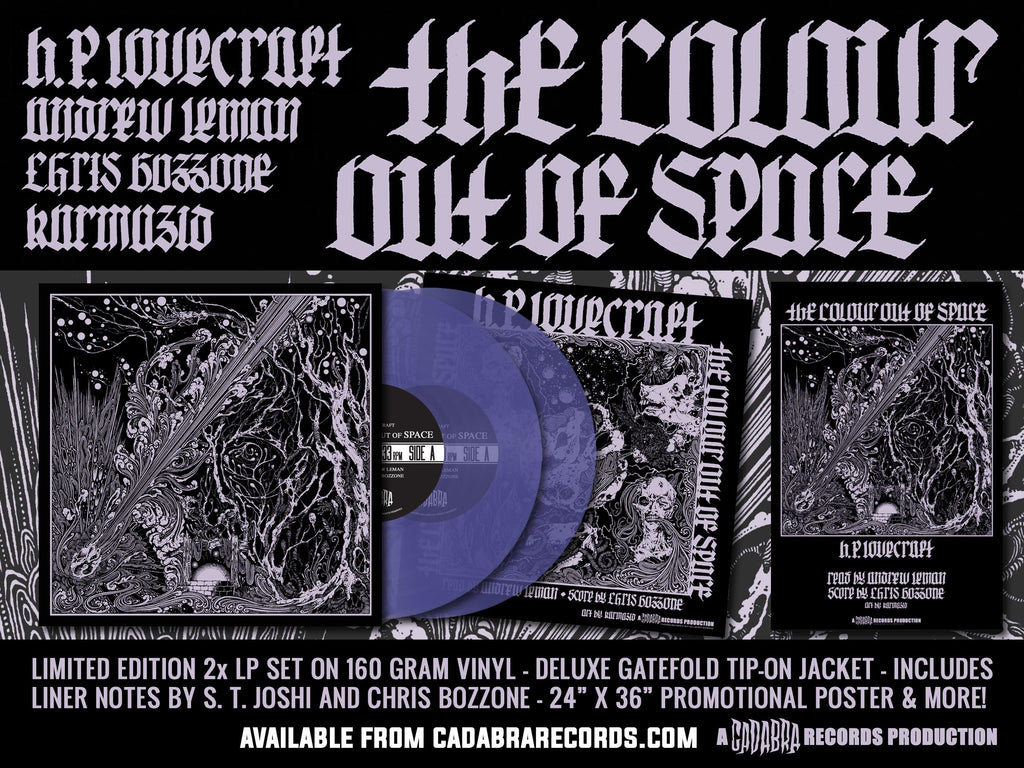 H  P  LOVECRAFT'S THE COLOUR OUT OF SPACE 2x LP SET - READ