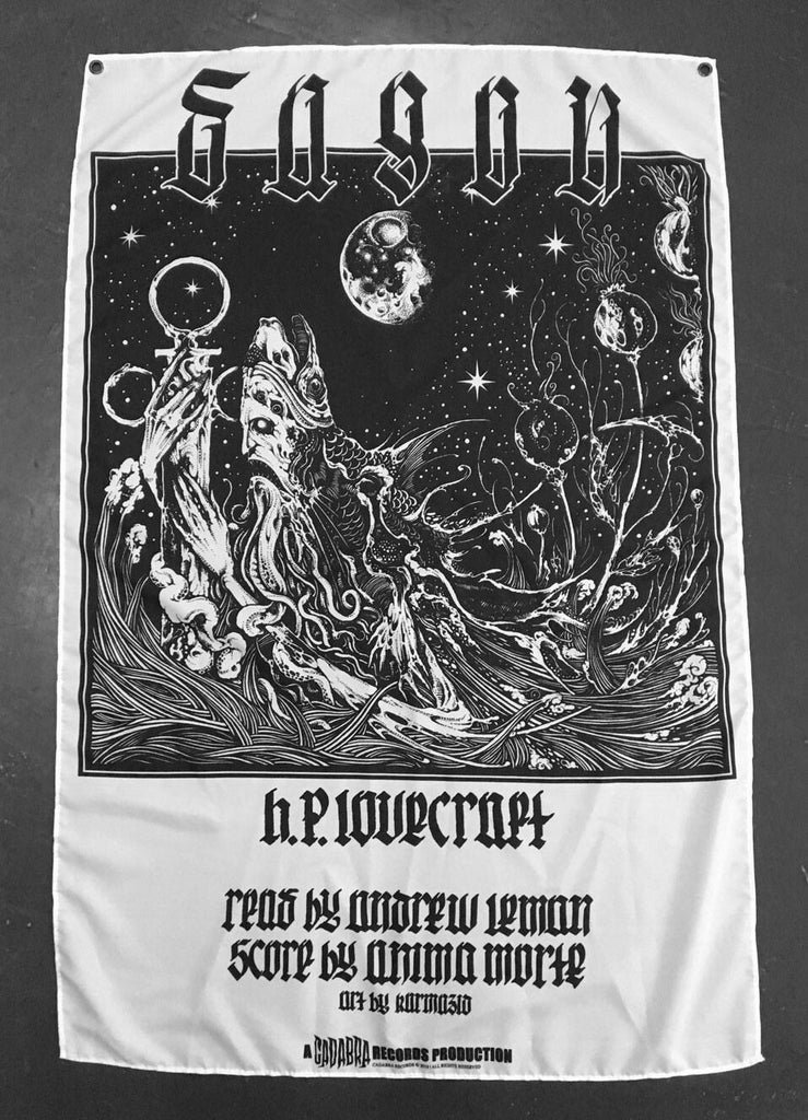 H. P. Lovecraft's, Dagon, The Cats of Ulthar & The Music of Erich Zann CLOTH BANNER