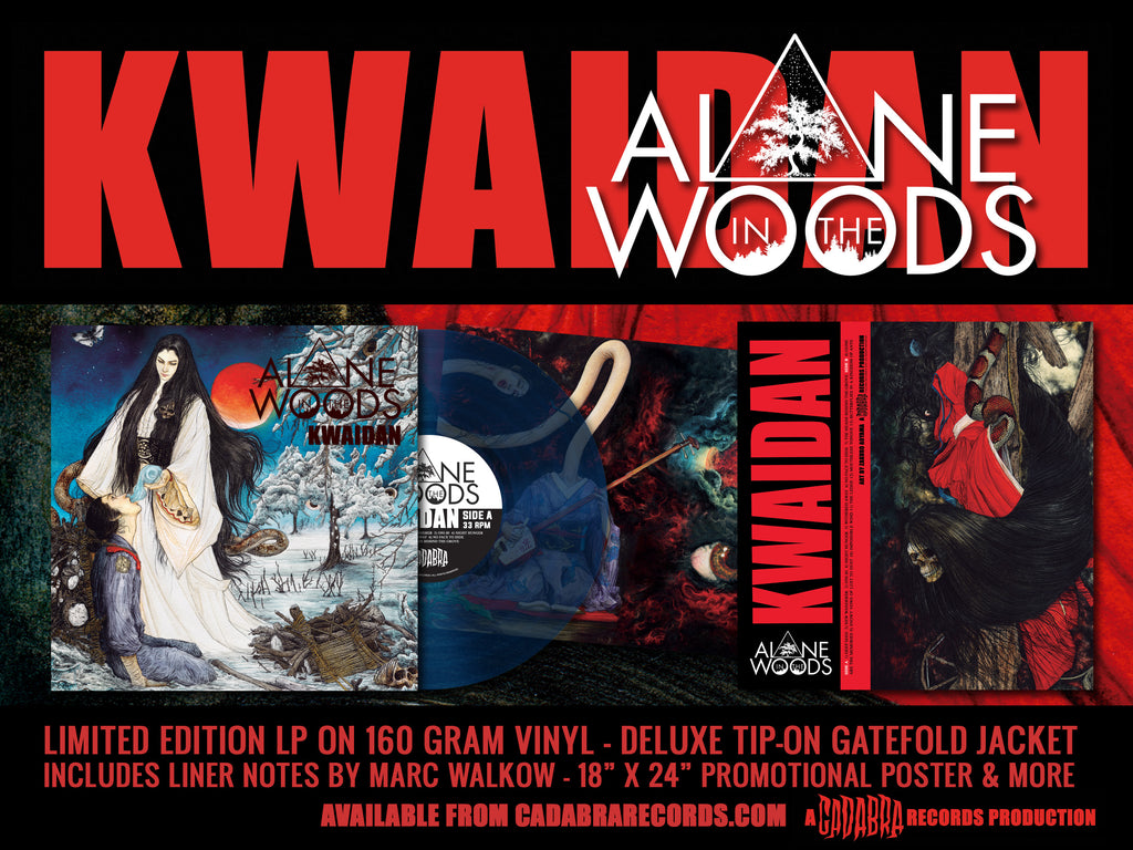 ALONE IN THE WOODS, KWAIDAN LP - YUKKI-ONNA VARIANT (BLUE VINYL)