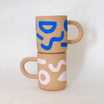 Monocolor Pattern Speckle Mug