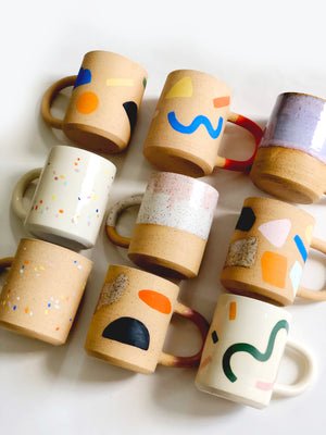 Color and Texture on Speckles Mug