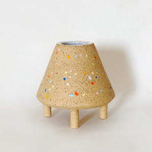 Low Cone Sprinkles Speckle Vase/ Planter