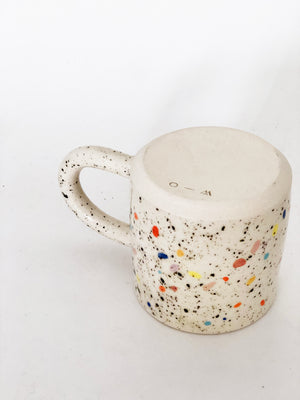 Small Double Sprinkles White Mug