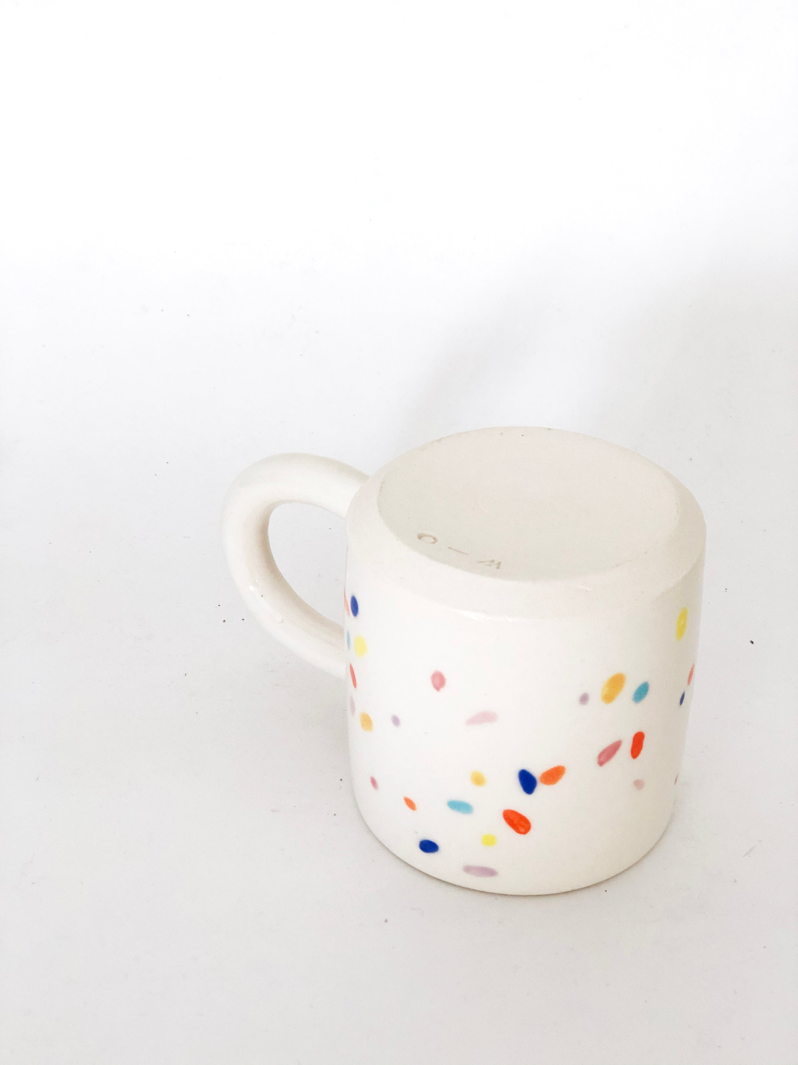 Small Sprinkles White Mug