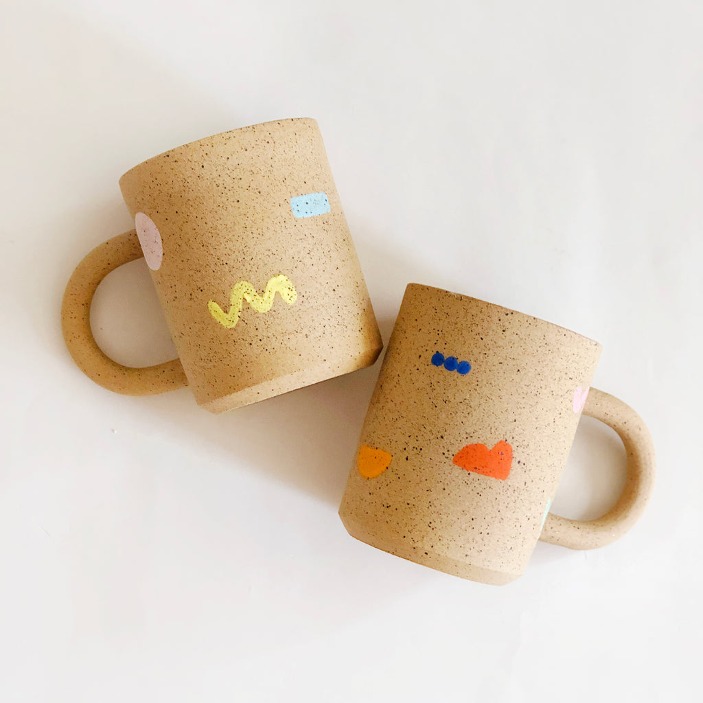 Large Little Shapes on Speckles Mug
