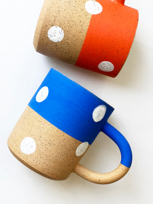 Large Polka Dots with Color Mug