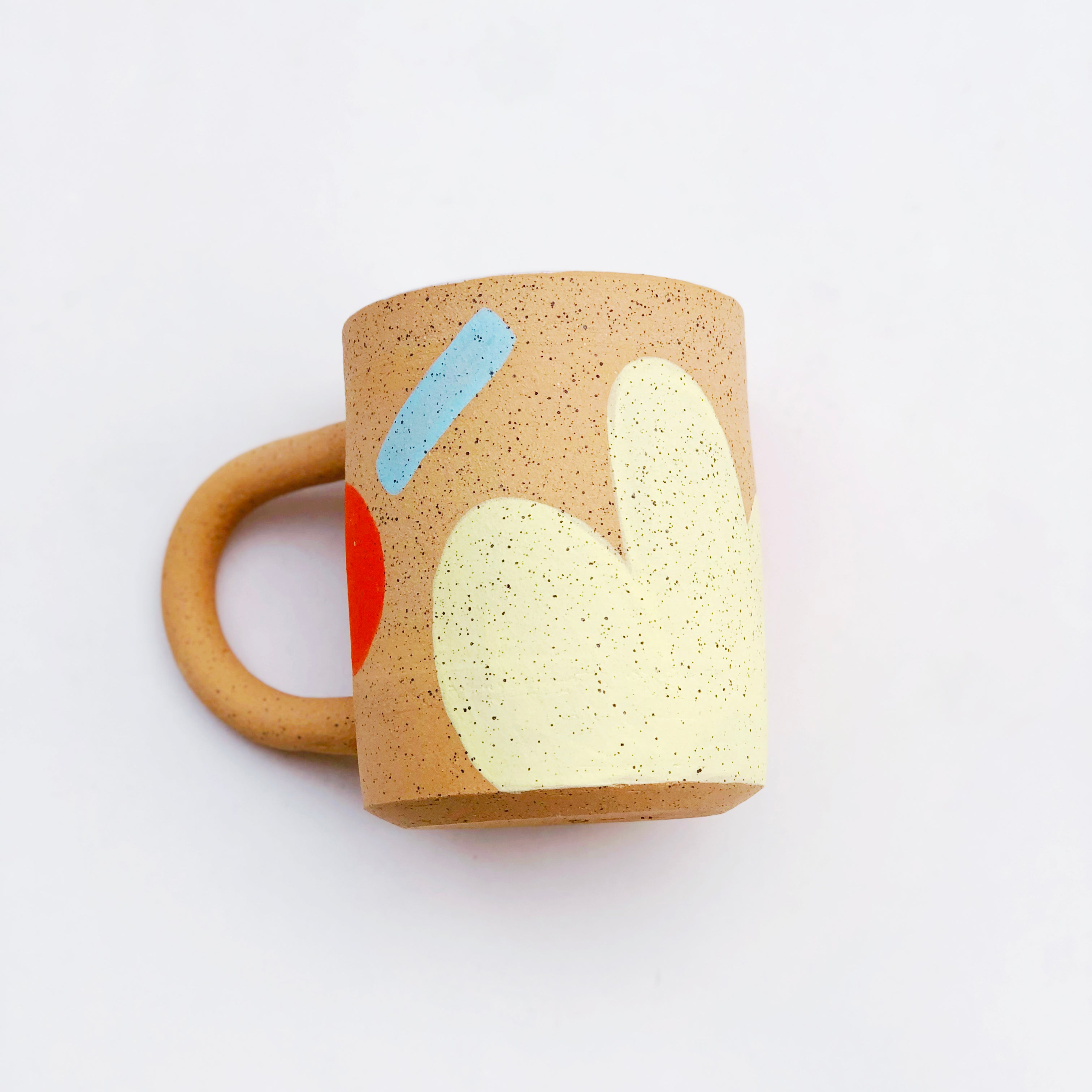 Large Yellow Summer Speckle Mug