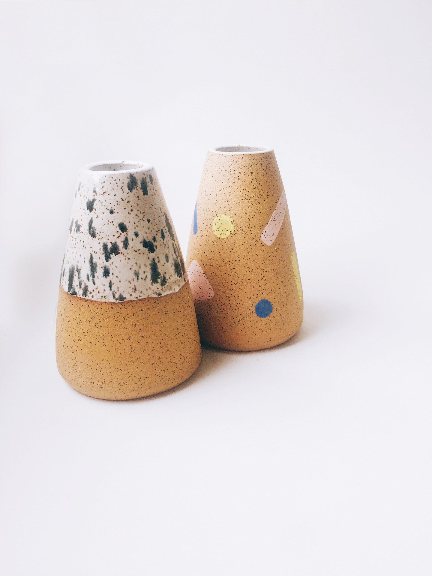 Dots on Speckle Cone Vase