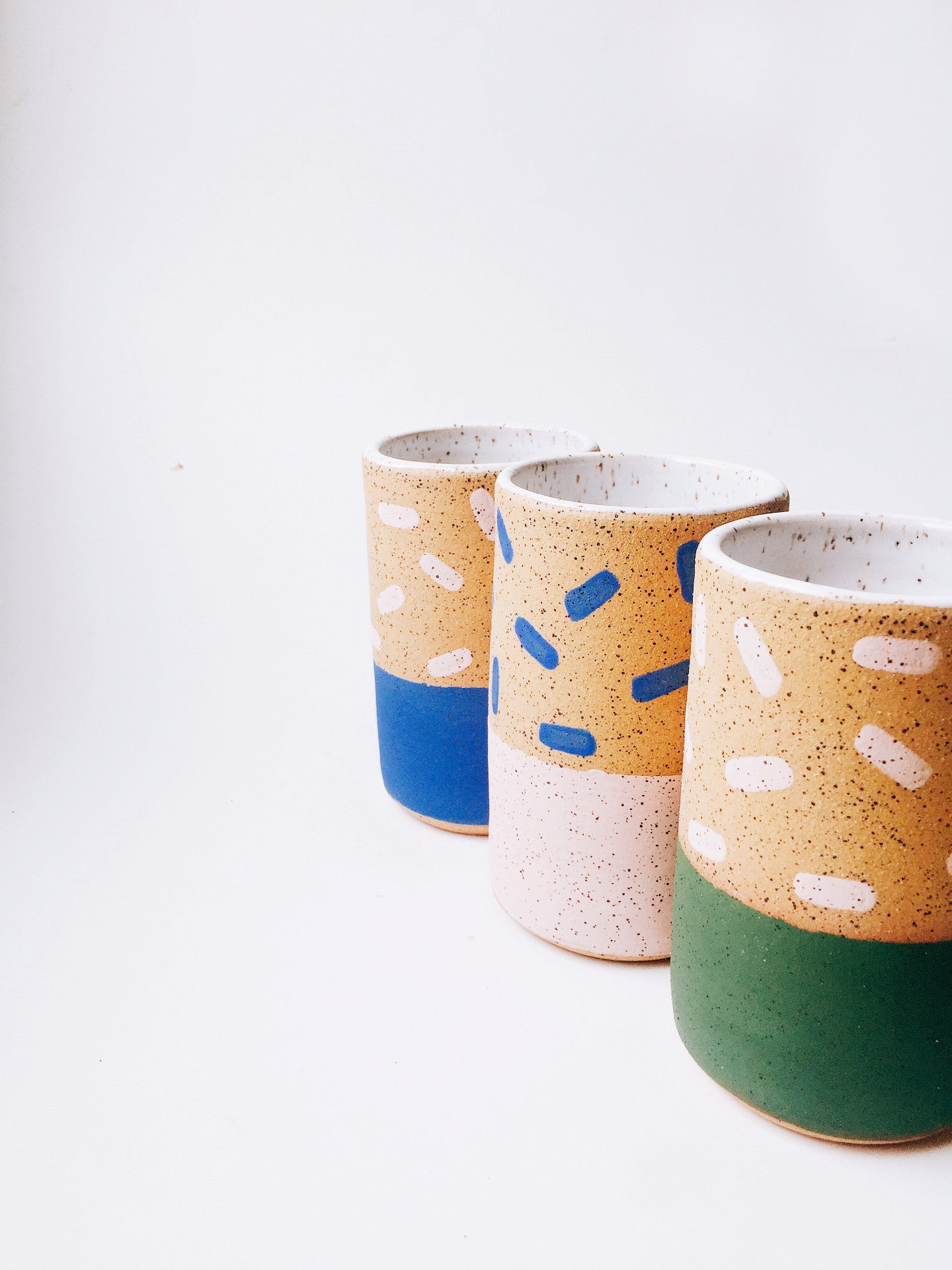 Dots Pattern Tall Skinny Speckle Mug