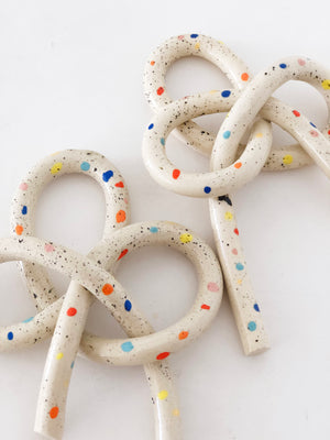 Clay Object 18 - Double Sprinkles New Year Knot