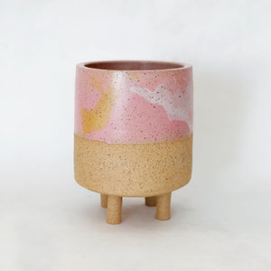 Marbled Sorbet Planter with legs
