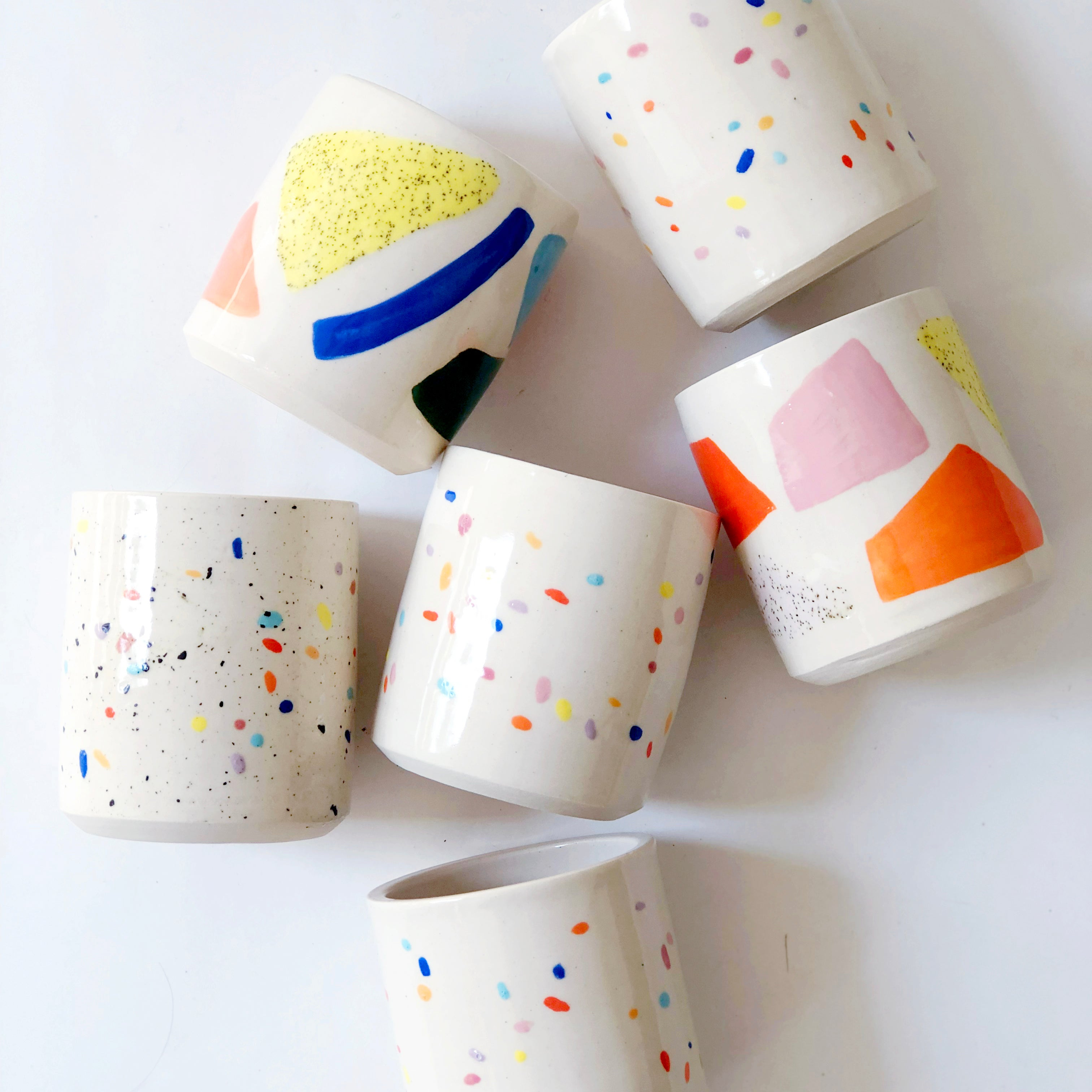 Painted Design Cups