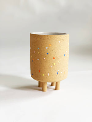 Sprinkles on Speckles Planter with Legs