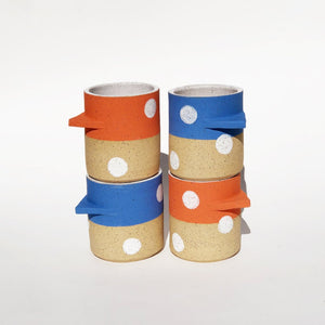 Polka Dots Mug with Triangle Handle
