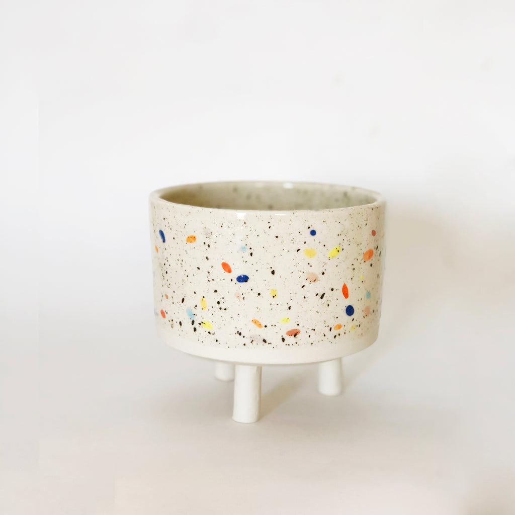 "4.5"" Double Sprinkles Bowl with Legs"