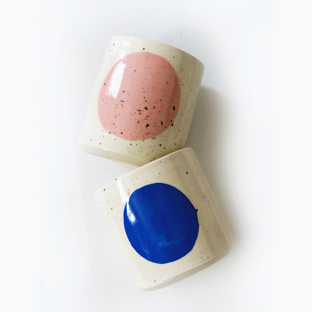 Sprinkles Pink and Blue Circle Planter