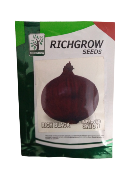 Rich Black Improved Onion Small Pack (RichGrow Seeds)