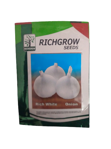Rich White Onion Small Pack (RichGrow Seeds)