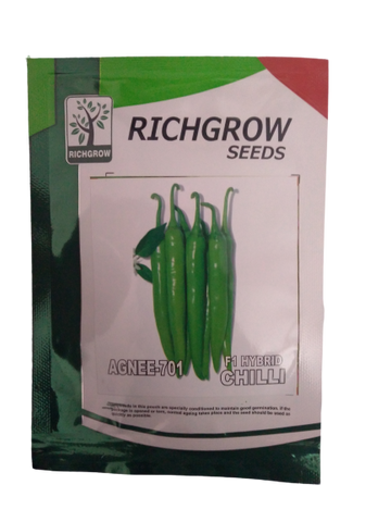 Agnee 701 Hybrid Chilli Small Pack (RichGrow Seeds)