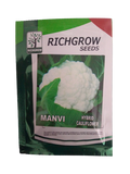 Manvi F1 Hybrid Cauliflower Small Pack (RichGrow Seeds)