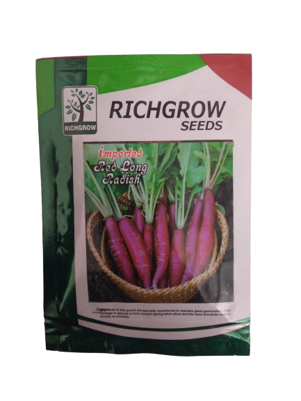 Red Long Radish Small Pack (RichGrow Seeds)