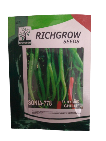 Sonia F1 Hybrid Chilli Small Pack (RichGrow Seeds)